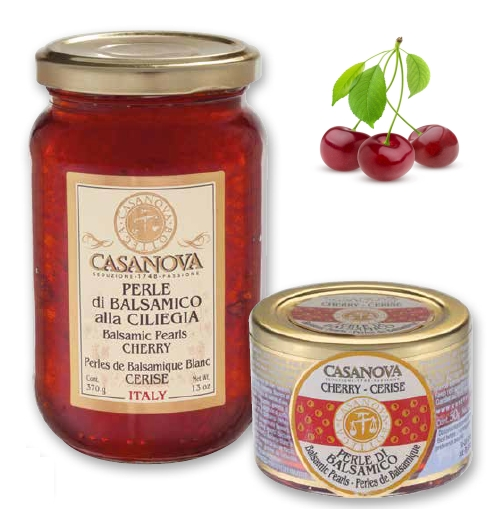 CS0634 Perle di Balsamico Bianco alla CILIEGIA 50 g - 1